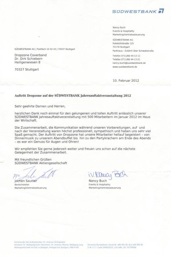 Empfehlung der Südwestbank AG