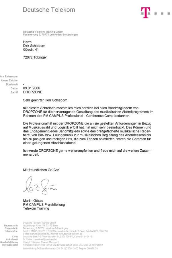 Empfehlung der Deutschen Telekom AG