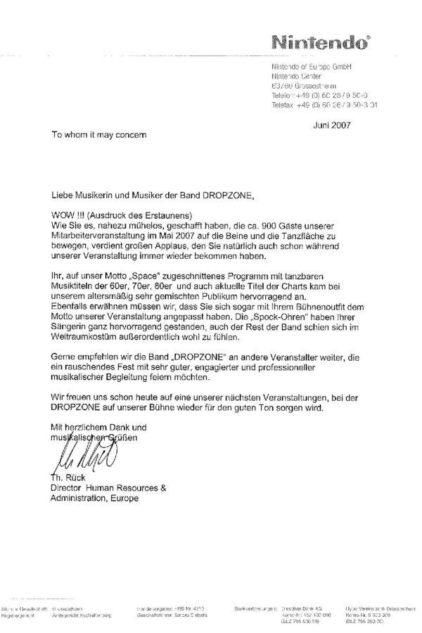 Empfehlung der Nintendo of Europe GmbH