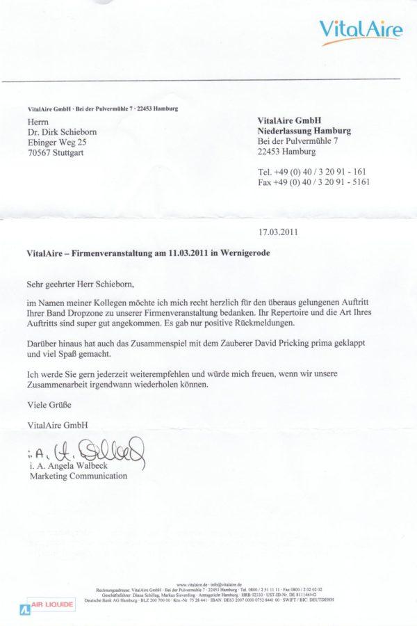 Empfehlung der VitalAire GmbH