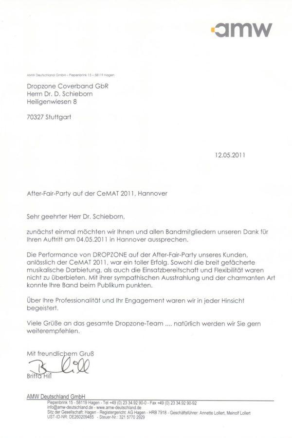 Empfehlung der AMW GmbH
