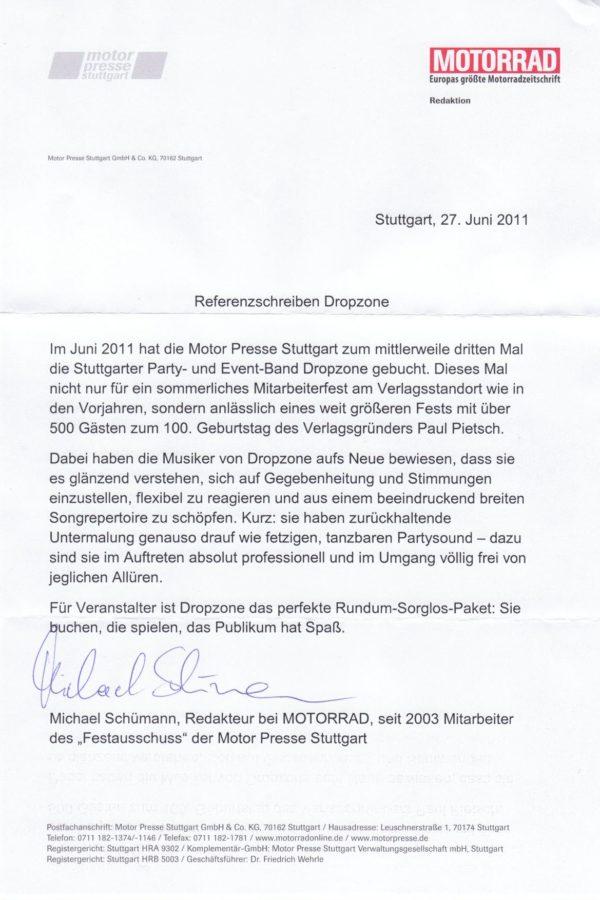 Empfehlung der Motor Presse Stuttgart – Motorrad
