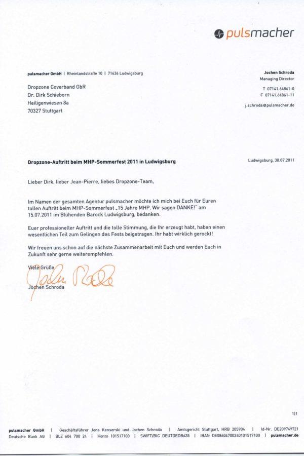 Empfehlung der Agentur pulsmacher GmbH