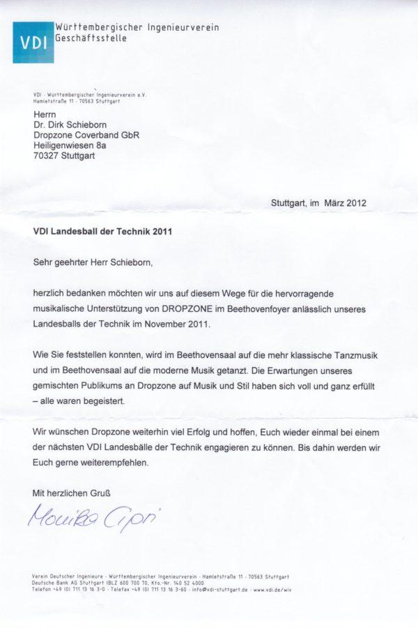Empfehlung des VDI – Württembergischer Ingenieursverein