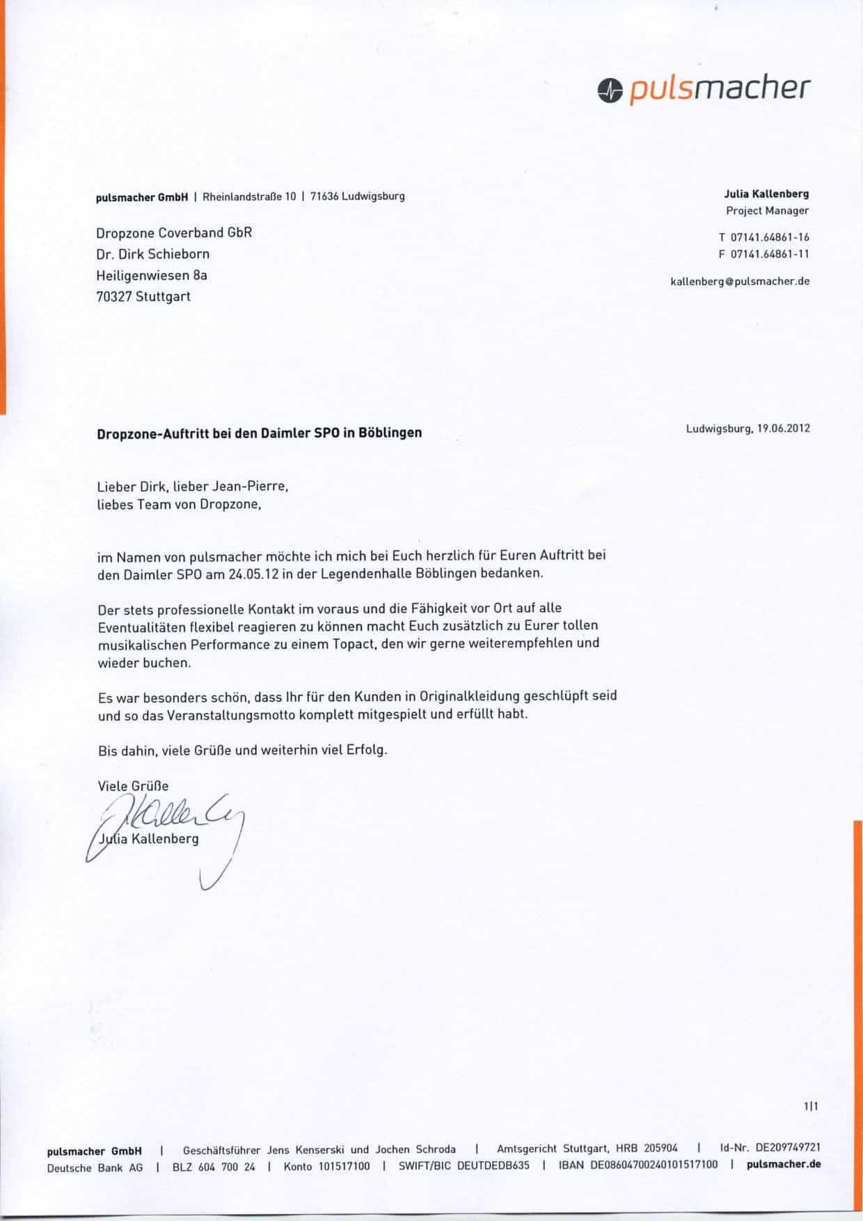 Empfehlung der Daimler AG – Daimler SPO