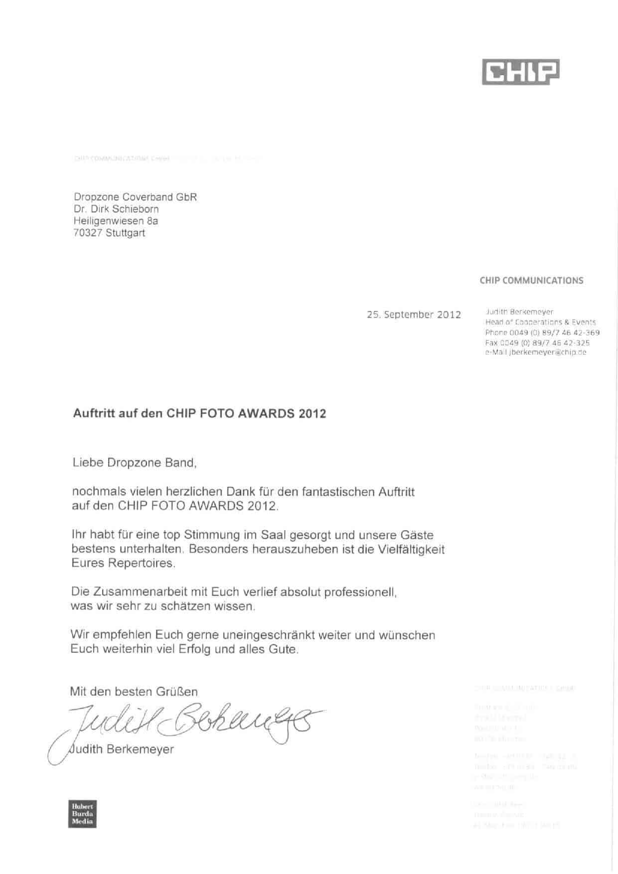 Empfehlung der CHIP Communications GmbH